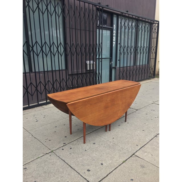 Mid-Century Drop Leaf Dining Table - Image 4 of 10