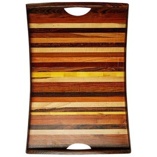 Don Shoemaker Large Exotic Wood Inlaid Tray for Señal, Circa 1970 For Sale