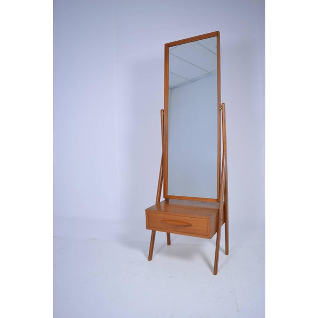 Danish Modern Danish Modern Cheval Mirror by Arne Vodder, circa 1960s For Sale - Image 3 of 6