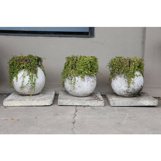 We adore midcentury garden elements like these sphere-shaped planters. Sourced in France, this trio of planters are all...