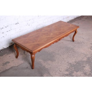 John Widdicomb French Louis XV Style Coffee Table With Parquet Top Preview