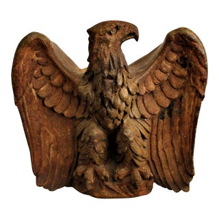Early 19th Century Monumental Pottery Eagle Sculpture For Sale