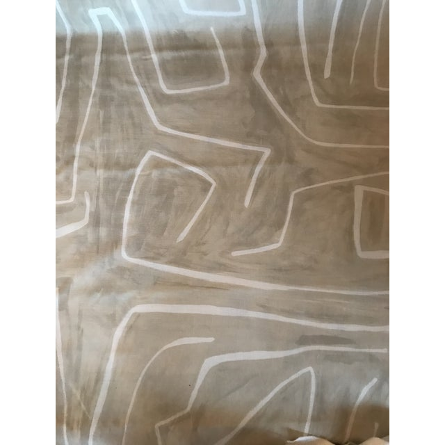 Contemporary Groundworks Graffito Beige/Ivory Fabric - 5 Yards For Sale