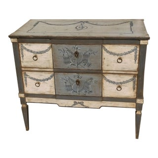 Gray & White Painted Commode