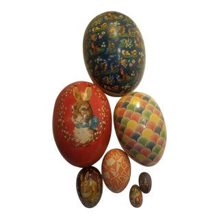 Antique Eastern European Stacking Easter Eggs - Set of 7 For Sale
