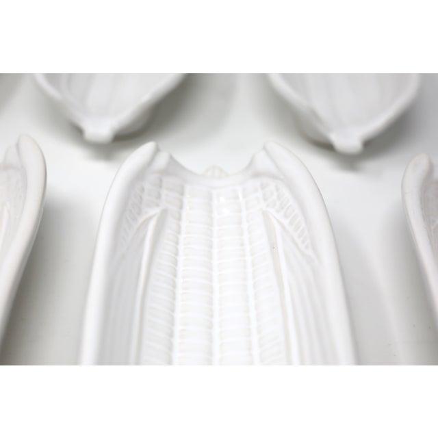 Bordallo Pinheiro White Ceramic Corn on the Cob Holders - Set of 7 For Sale - Image 4 of 9