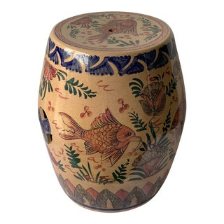 Ceramic Balinese Garden Seat For Sale