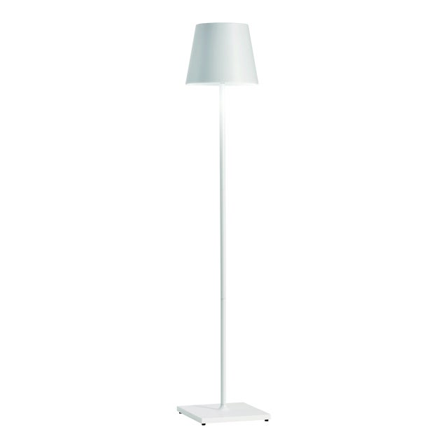 Zafferano White 10W LED Dimmable Rechargeable Indoor/Outdoor Cordless Floor Lamp For Sale