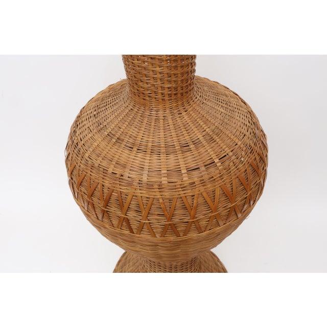 Vintage Oversized Wicker Urn or Vase - Image 4 of 8