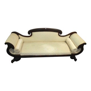Antique Mahogany Federal Style Settee For Sale