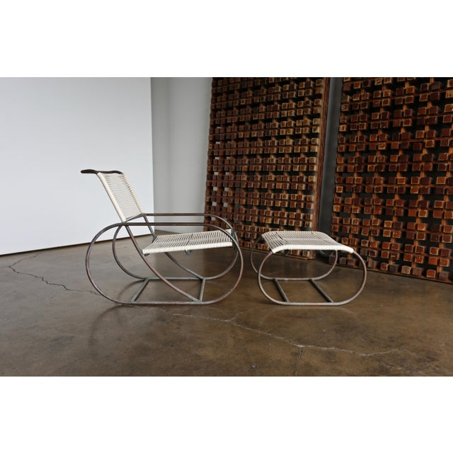 Gold Bronze Outdoor Lounge Chair and Ottoman by Kipp Stewart for Terra of California For Sale - Image 8 of 13