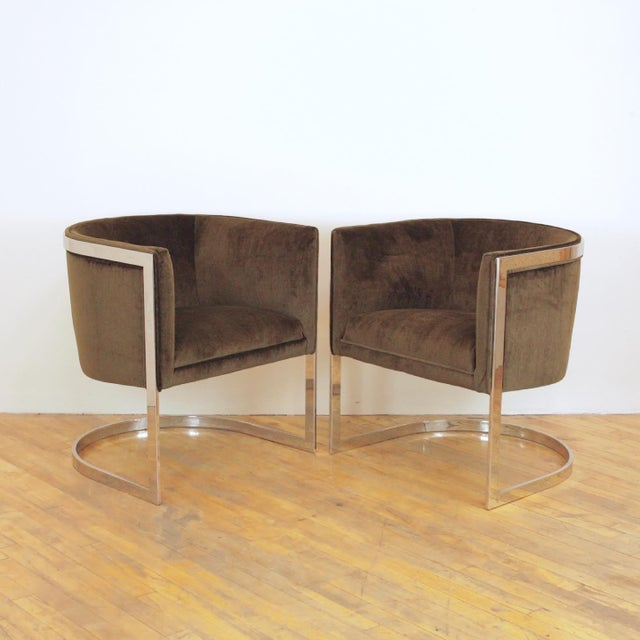 1970s Vintage Metropolitan Barrel Lounge Chairs - a Pair For Sale - Image 11 of 11