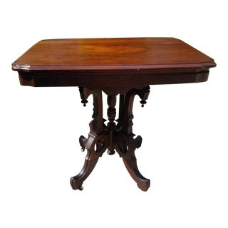 Antique Victorian Eastlake Parlor Table
