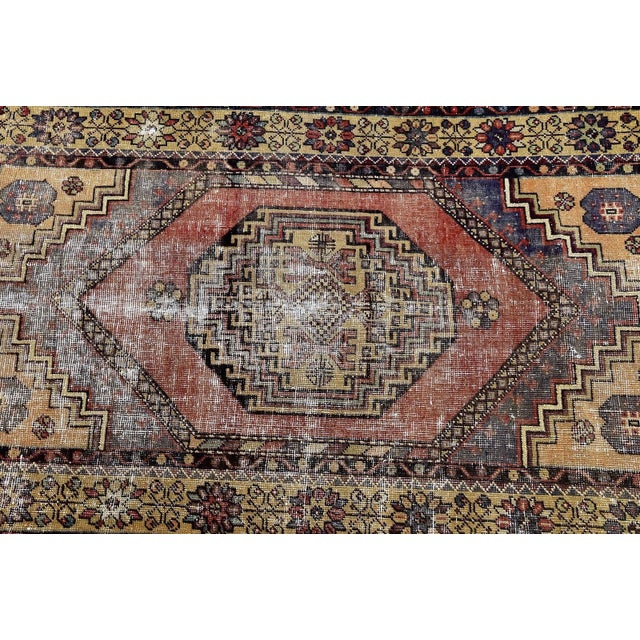Antique Turkish Handmade Oushak Pile Rug 3′8″ × 5′11″ - Image 5 of 7