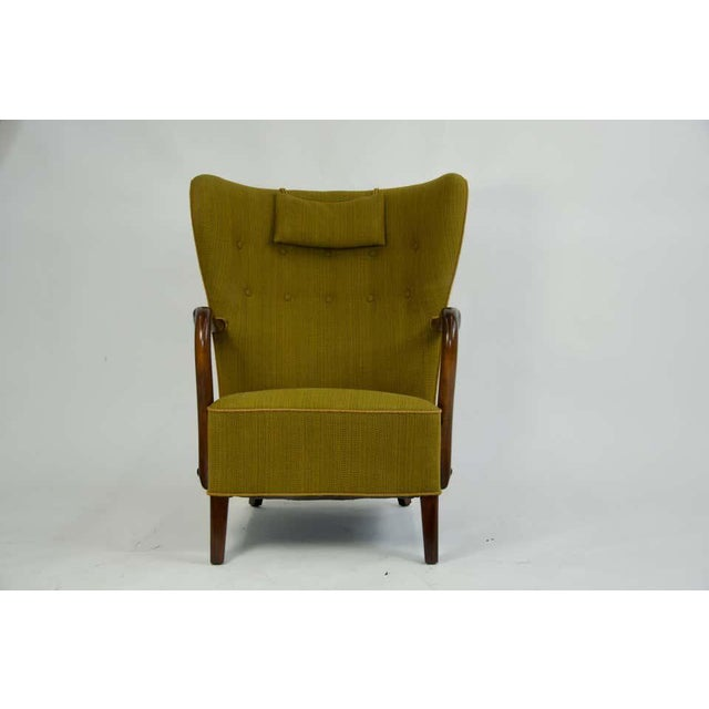 1940s Danish Lounge Chair by Alfred Christensen For Sale - Image 4 of 8