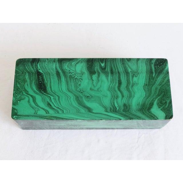 Faux Malachite Trinket Box For Sale - Image 9 of 10