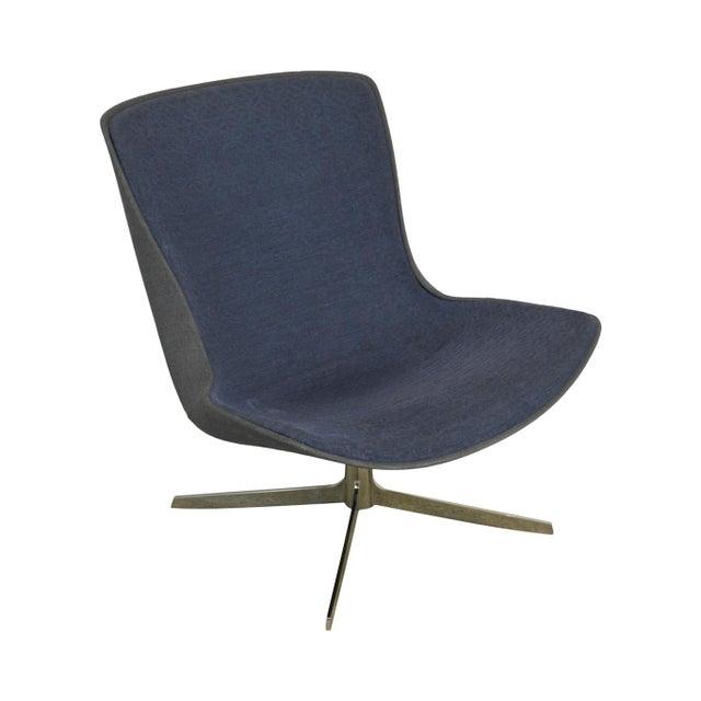 Monica Forster for Bernhardt Chrome Base Swivel Vika Lounge Chair For Sale - Image 13 of 13