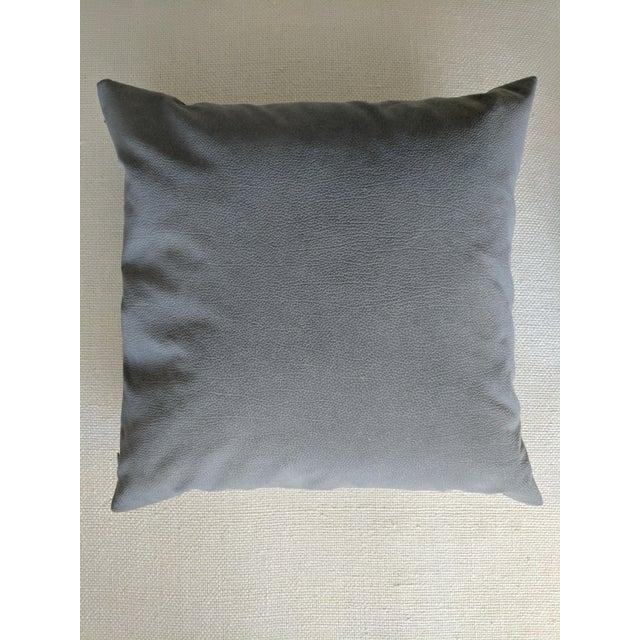 Italian Signoria Firenze Slate Gray Decorative Pillows - A Pair For Sale - Image 3 of 3