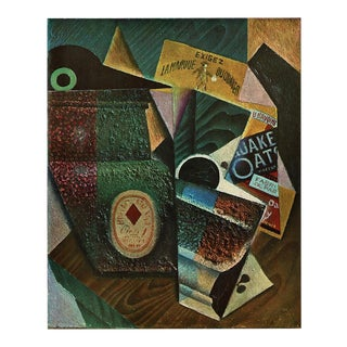 "1940s Juan Gris ""The Package of Quaker Oats"" Print From Geneva For Sale"