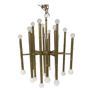 Gold Bamboo Shaped Chandelier