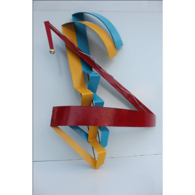 Vintage Metal and Brass Decorative Wall Sculpture - Image 5 of 11