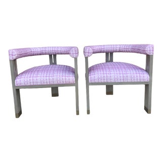 "Hickory Chair ""George"" 3 Legged Chairs - a Pair For Sale"