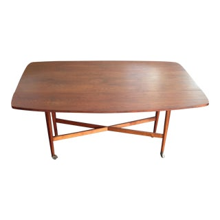 1960 Drexel Declaration Kipp Steward McDougell Drop-Leaf Dining Table For Sale