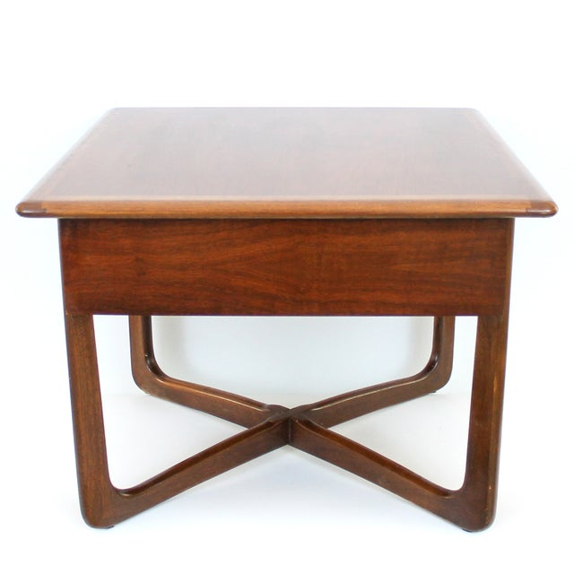 Mid-Century Lane Perception X-Base End Table - Image 3 of 10