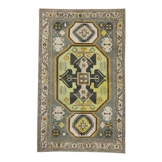 "20th Century Turkish Painted Oushak Area Rug - 8'1"" X 13'1"" For Sale"
