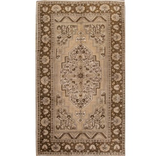 Early 20th Century Antique Turkestan Khotan Wool Rug 7 X 13 For Sale