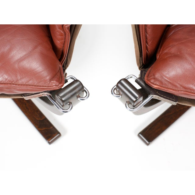 1970s Sigurd Resell for Vatne Møbler Falcon Lounge Chairs- A Pair For Sale - Image 9 of 13