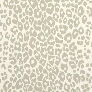 Schumacher Iconic Leopard Pattern Animal Print Wallpaper in Linen Beige - 2-Roll Set (9 Yards)