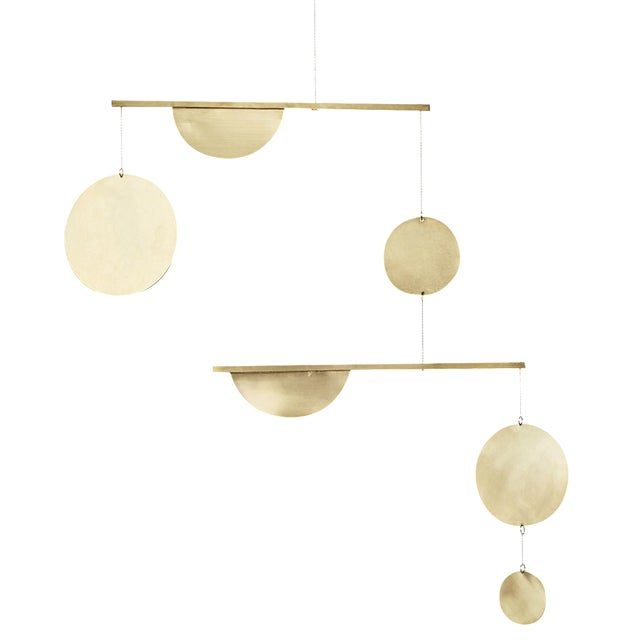 Brass Two-Tiered Geometric Mobile For Sale