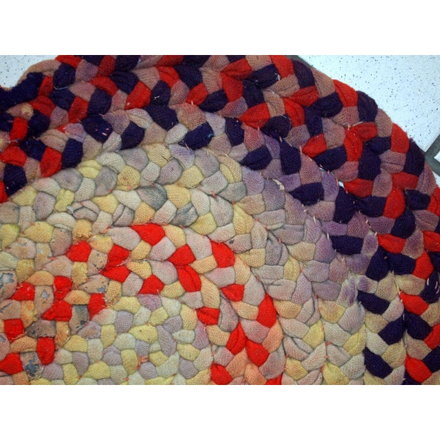 """1930s Handmade Antique American Braided Rug - 1'3"""" x 2'4"""" For Sale - Image 10 of 10"""