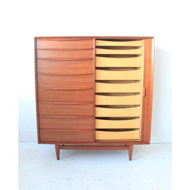 Vintage Falster Mid-Century Modern Teak Highboy Dresser - Image 2 of 9
