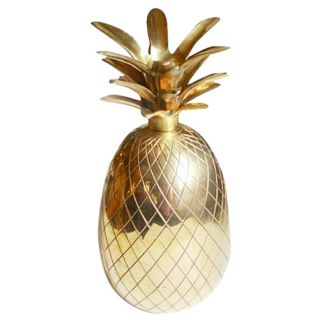 Brass Pineapple Candle Holder - Image 1 of 3