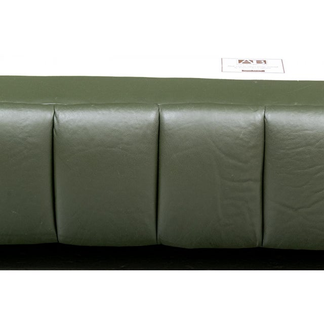 Metal Contemporary Avery Boardman Queen Size Leather Platform Bedframe For Sale - Image 7 of 11