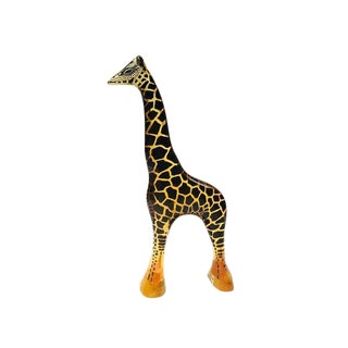 Mid Century Modern Lucite Giraffe Sculpture Brazilian Modern Art For Sale