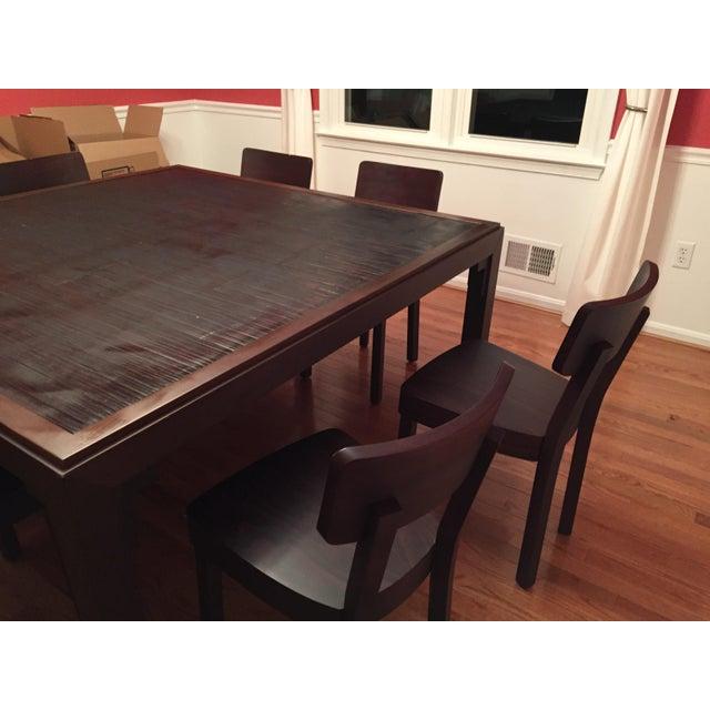 Gervasoni Gervasoni Otto Walnut, Bamboo Table & 8 Chairs For Sale - Image 4 of 4