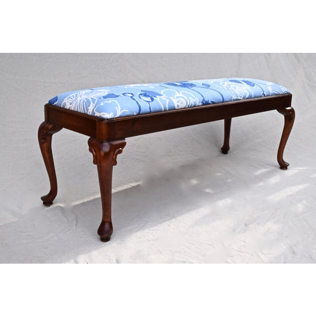 Century Furniture Queen Anne Bench by Century For Sale - Image 4 of 11