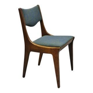 Drexel Dateline John Van Koert Walnut Mid Century Modern Dining Side Chair (B) For Sale
