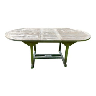 19th Century Antique English Style Garden Teak Dining Table For Sale