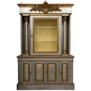 Italian Silver and Parcel-Gilt Cabinet For Sale