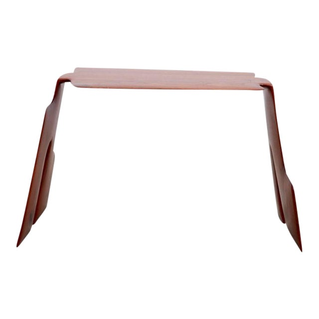 Robert A. Schultz Studio Side Table in Solid Walnut For Sale