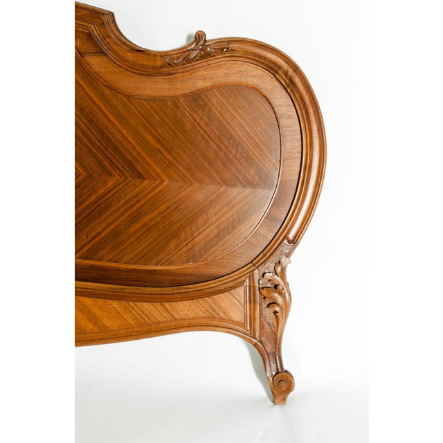 Late 19th Century French Burl Walnut Bed For Sale - Image 10 of 13
