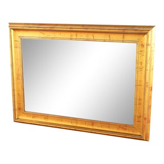 Vintage Gold Framed Mirror For Sale