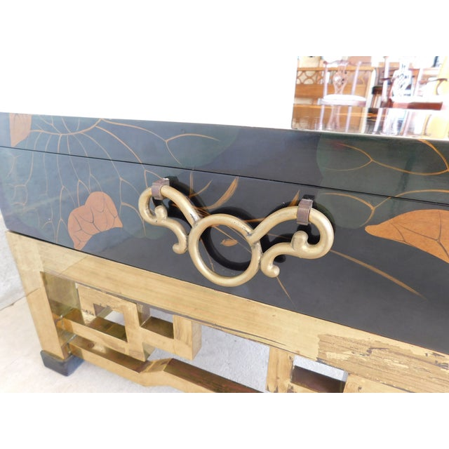 Maitland Smith Chinoisere Decorated Lacquered Cocktail Coffee Table For Sale - Image 9 of 13