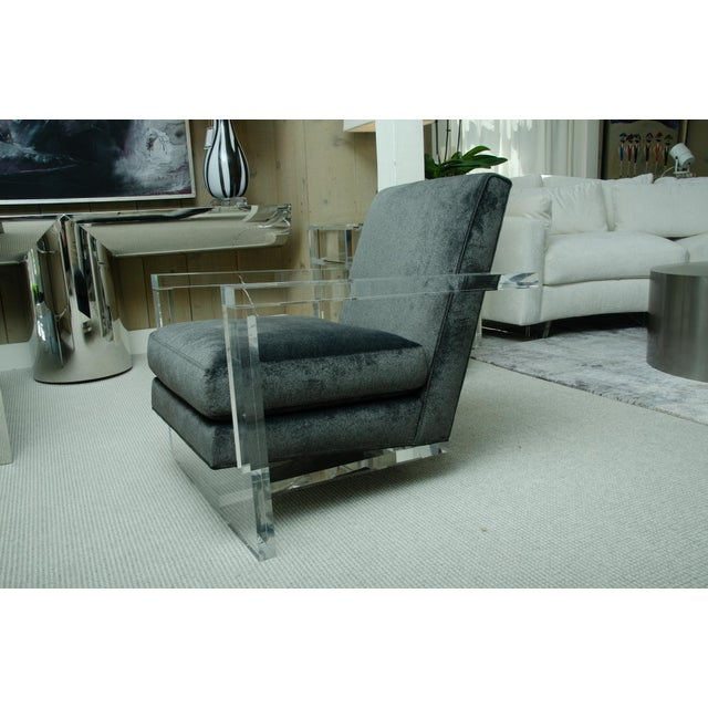 2010s Fabulous Pair of Lucite Arm Chairs For Sale - Image 5 of 8