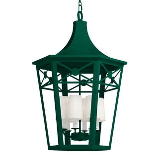 Bennington Lantern, Chrome Green For Sale