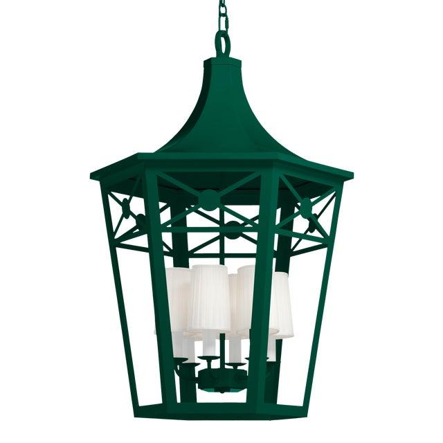 Bennington Lantern, Chrome Green For Sale